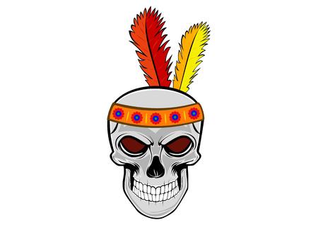 a human skull Indian Head
