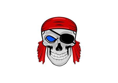 a human skull head pirate