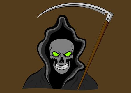 guadaña: ceja con ojos verdes Vectores