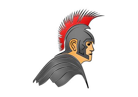 Roman soldier illustration. Vektorové ilustrace