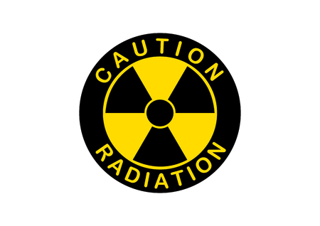 Radiation icon, radiation symbol