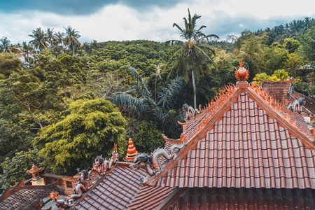 chinese temple roofs and bali wood
