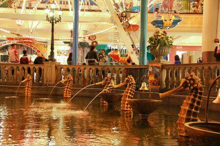 theme park: Theme park scene Stock Photo