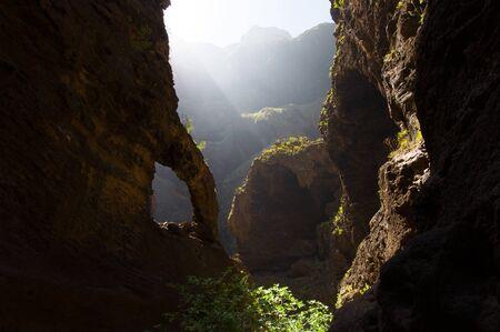 ravine: Masca ravine in Tenerife