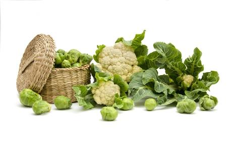 still life of fresh cabbage on a white background Reklamní fotografie - 17024194