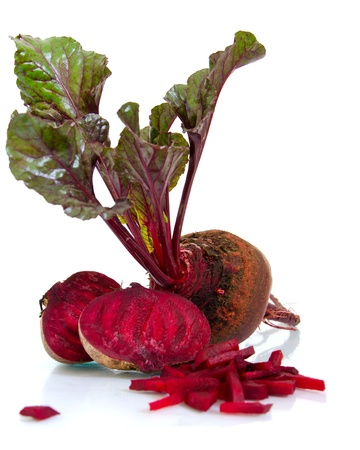 beet with leaf on white background Banco de Imagens
