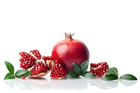 pomegranate isolated on the white background Standard-Bild