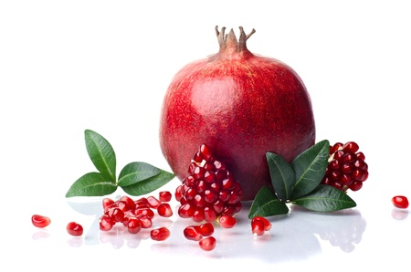 pomegranate isolated on the white background Banco de Imagens