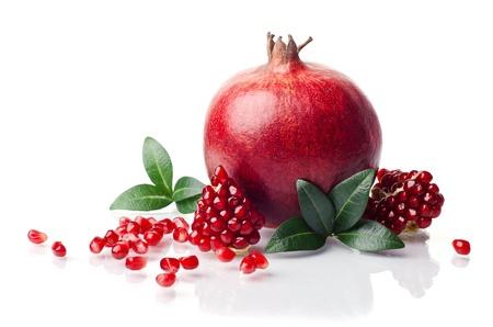 grenadine: pomegranate isolated on the white background Stock Photo