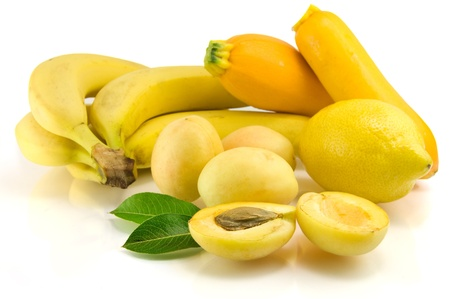 Yellow fruits isolated on the white Stock Photo - 17836841