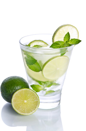 mohito: Mohito mojito drink with ice mint and lime