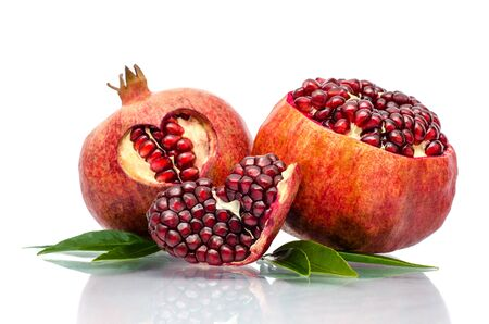 a pomegranate: pomegranate isolated on the white background Stock Photo
