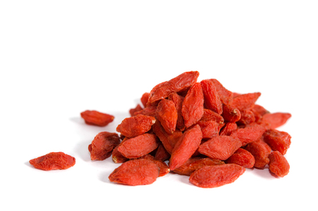 dried goji berries isolated on white backgrownd