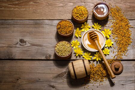 beekeepers still life on wooden background Reklamní fotografie
