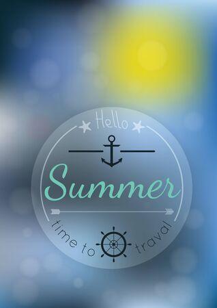 golden dusk: Summer time blur backgound, poster. Vector