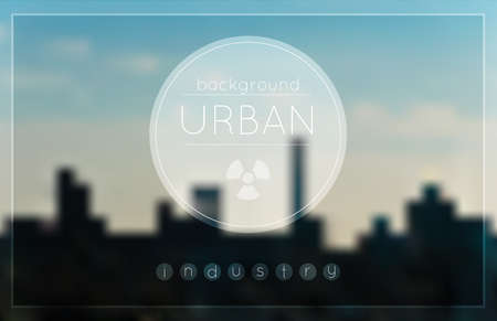naphtha: Blur urban Industrial factory background. Dark industrial urban. Environmental pollution