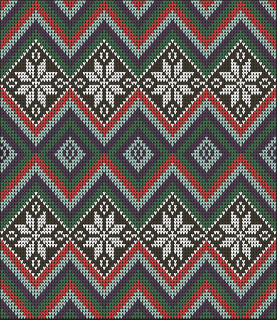 ridding: Fair Pattern sweater design on the wool knitted texture. Seamless Knitting Ornament