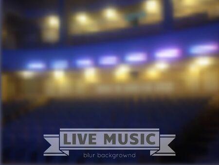 Blur salle fond de concert. Vecteur floue fond de musique classique, festival de jazz, l'opéra, la remise des prix, modèle de conception avec place pour le texte. Banque d'images - 41958777