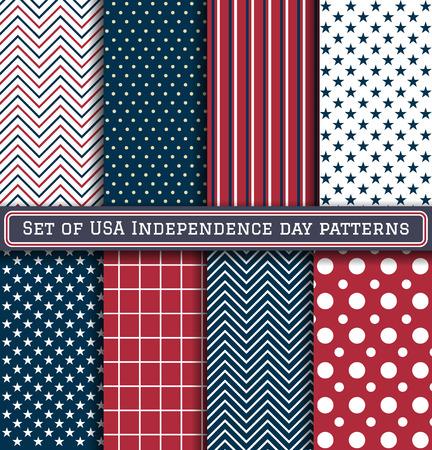 independencia: Conjunto de patrones de día de la Independencia EE.UU.