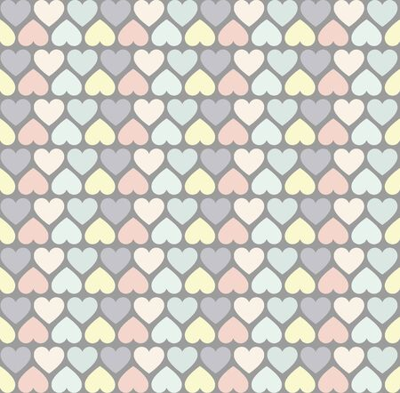 heart tone: Simply Heart Pastel Pattern, Valentines, wedding background Illustration