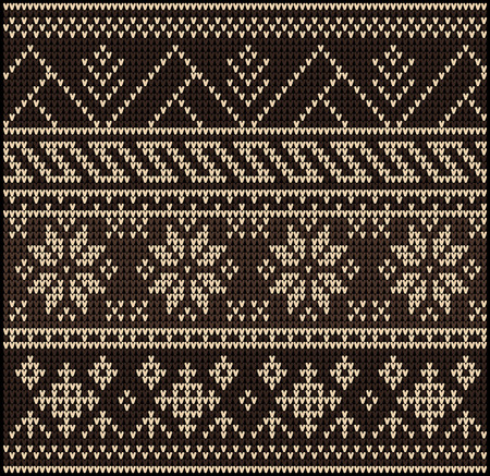 wool texture: Fair Pattern sweater design on the wool knitted texture. Knitting Ornament