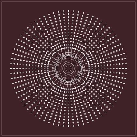 Religion, philosophy, spirituality, occultism symbol,  Trendy hipster circle. Ilustração