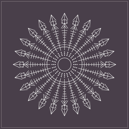 occultism: Religion, philosophy, spirituality, occultism symbol,  Trendy hipster circle. Illustration
