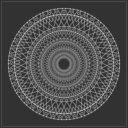 Religion, philosophy, spirituality, occultism symbol,  Trendy hipster circle. Illustration