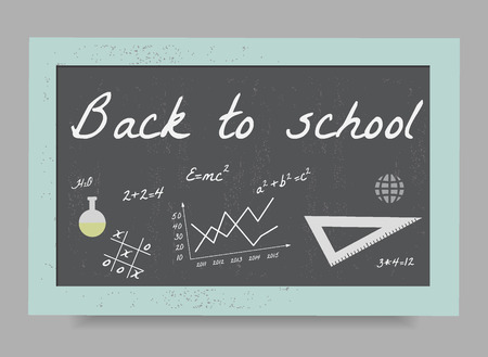 whitewash: School board with the formulas and equations, Back to school