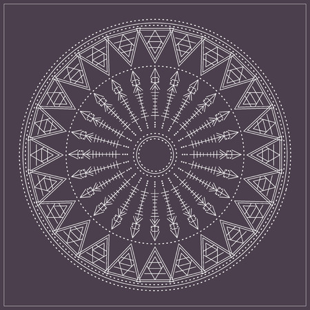 occultism: Religion, philosophy, spirituality, occultism symbol, Trendy hipster circle.