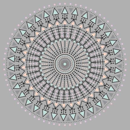 ocultismo: Religi�n, filosof�a, espiritualidad, s�mbolo ocultismo, moda c�rculo de color inconformista. Vectores