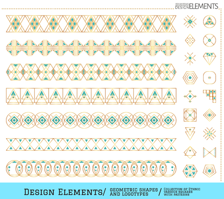 occultism: Set of geometric shapes. Trendy hipster icons. Religion, philosophy, spirituality, occultism symbols collection. linear tattoo Illustration