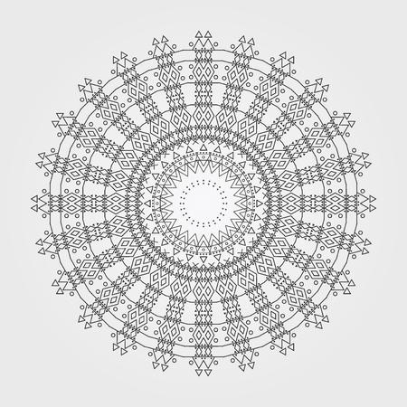 Trendy Hipster Circle Bright Philosophical Symbol Circular Stock