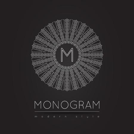 wedding  art: Elegant linear abstract monogram