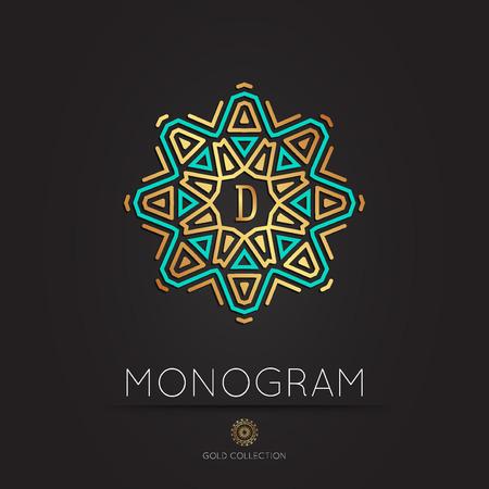 Royal Elegant linear abstract monogram