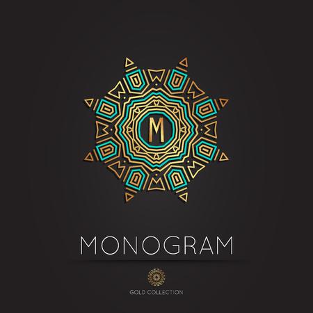 royal: Royal Elegant linear abstract monogram