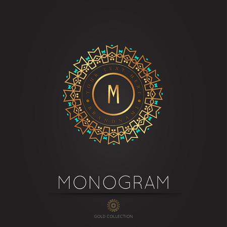 Royal Elegant linear abstract monogram, vector template. Hotel logo. Kings symbol.