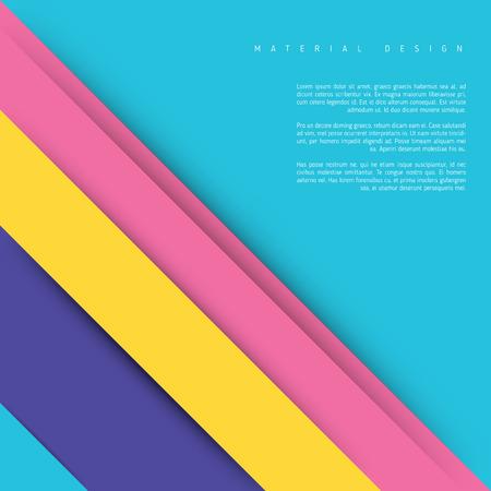 Illustration of unusual modern material design background. Modern template.