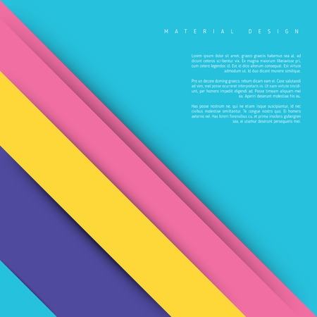 bussiness card: Illustration of unusual modern material design background. Modern template.