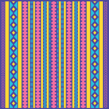 Abstract ethnic colored modern geometric background