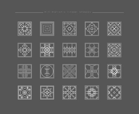philosophy: Sacred geometry. Set of minimal geometric shapes. Business signs, labels, trendy hipster linear icons. Religion, philosophy, spirituality, occultism symbols collection Illustration