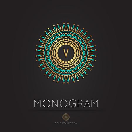Royal Elegant linear abstract monogram, vector template. Kings symbol. Illustration