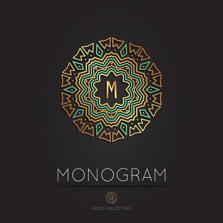 Royal Elegant linear abstract monogram, vector template.  Kings symbol.