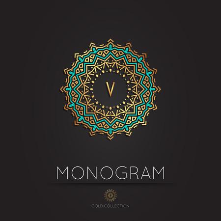 Royal Elegant linear abstract monogram, vector template. Kings symbol. Ilustração