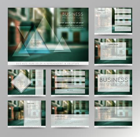 Abstract vector backgrounds of digital technologies. Set of vector templates for presentation slides and business presentation. Ilustração