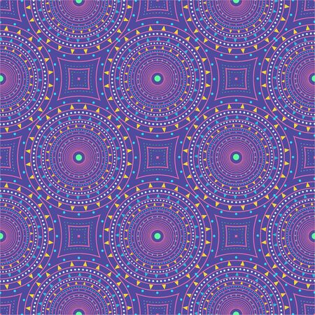 Seamless pattern with colored  circles. Vector repeating texture. Stylish background