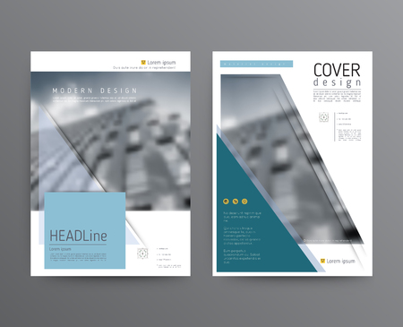 Business template for brochure, annual report Stock Illustratie