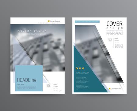 Business template for brochure, annual report Ilustração