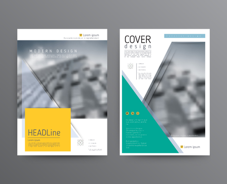 Business template for brochure, annual report Illustration