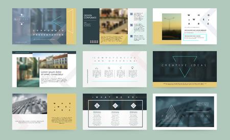 Presentation templates. Business template for brochure or booklet. Ilustração